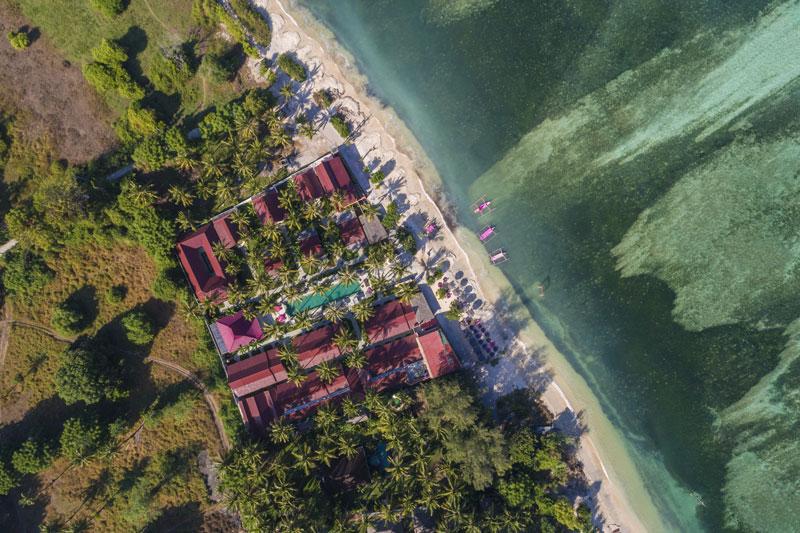 Gili Air - Drone