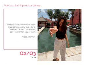 PinkCoco Bali Tripadvisor Winner Q2-Q3 2020