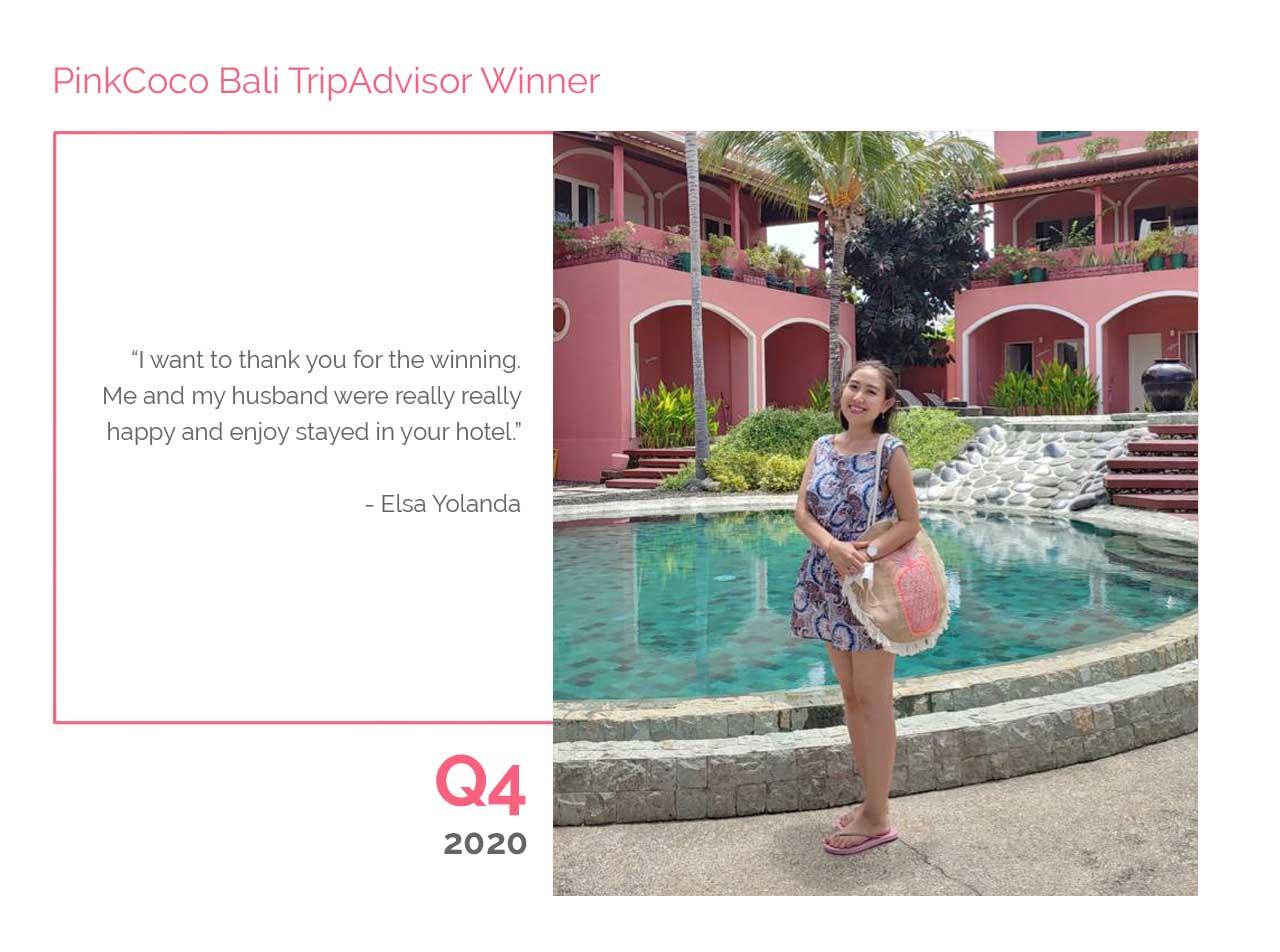 PinkCoco Bali Tripadvisor Winner Q4 2020