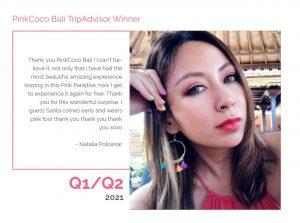 PinkCoco Bali Tripadvisor Winner Q1-Q2 2021