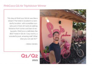 PinkCoco Gili Air Tripadvisor Winner Q1-Q2 2021